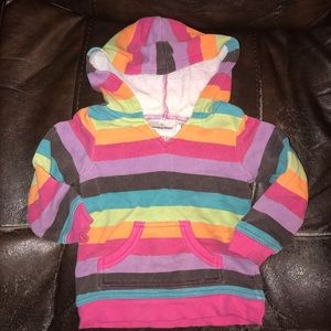3/$10‼️ 2T Stripes Hoodie
